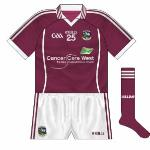 2011-: After a worryingly long period without a sponsor, Galway came up with a new approach as they entered what was referred to as a 'partnership' with Cancer Care West, proceeds from a fundraiser divided between the two.