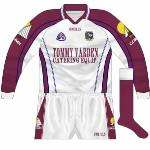 2004: As far as we can ascertain, only long sleeves were used by Galway football goalkeepers for the duration of the time that this kit was used, from the beginning of the 2004 championship.