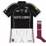 2011: Reflecting changes to maroon jersey, 'Gaillimh' replaced Aer Arann on the front.