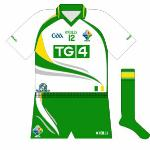 2010: TG4's replacement of Coca-Cola as the Ireland sponsors meant a new design for 2010, once again featuring the Irish colours of green, white, gold and grey. Oh that's right, the grey was completely superfluous.
