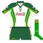 2005: Almost as if O'Neills wanted to see how much they could include, this jersey had two shades of green as well as gold trim on the white body.