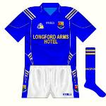 2007: Introduced for the Leinster championship game against Westmeath, the new jersey featured the three stripes which O'Neills began to re-use more prominently towards the end of the 2000s.