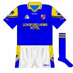 1999-01: The new white shorts coincided with a new O'Neills design, which like many counties featured the crest on the sleeve.
