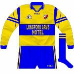 1999: Clare-esque change kit used in a league game away to Cavan, who wore white.
