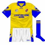 2001: Change jersey in the style of the blue shirt launched in 1999. This was worn against Wicklow in the 2001 championship.
