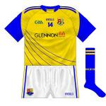 2014-: A return to a gold change shirt. First worn by the U21s in another clash against Dublin, it was also used in the All-Ireland qualifier game with Tipperary in July.