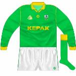 1995-2000: Long-sleeved jersey for winter games. Used for a long spell, even after it had been 'officially' replaced.