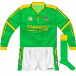 2008: Front numbers added to long-sleeved shirts, initially in a different font to the usual O'Neills one.