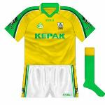 2001: The introduction of this, with the regular colours reversed, for the All-Ireland semi-final with Kerry meant that the previous offering remained a once-off. Remembered fondly as the Kingdom were played off the park.