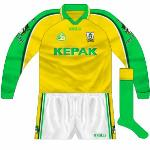 2002: Another meeting with Kerry, this time in the knockout stages of the league, meant a change, simply a long-sleeved version of that used in the previous year's semi-final.