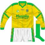 2006-07: Long sleeves, used against Offaly in 2006 O'Byrne Cup final. Identical to the goalkeeper shirt.
