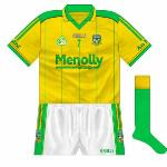 2008: Meath were drawn against Limerick in the All-Ireland SFC qualifiers in 2008, with both sides having to change. Meath's change kit was the same as the that worn the previous two years, with the addition of the frontal numbers.