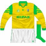 1996: Gold version of the new design, used when Meath came up against Mayo in a knockout league game.