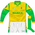 2000: The previous style was back for the 2000-01 league opener against Fermanagh.