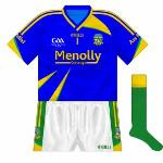 2009: Short-sleeved blue jersey, worn against Limerick and Mayo in championship.