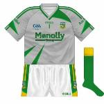 2009: In the All-Ireland semi-final, Kerry wore blue, meaning another change of goalkeeper shirt, to grey.