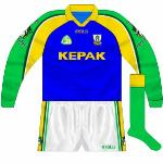 2003: Used when Meath changed against Fermanagh, identical to the 2001 All-Ireland semi jersey but for the gold collar.