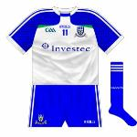 2013-: Quite a change for Monaghan, with the sleeves now two shades of blue in a checkered pattern. O'Neills' new neck design was also featured.
