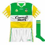 1997-2002: The O'Neills wordmark reverted to white, and this jersey remained unchanged for championship games for five years.