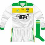 2000-01: Long-sleeved version of new alternative jersey, used against Kerry in 2000 league and Meath in the following year's O'Byrne Cup.