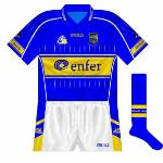 2006-07: O'Neills began to replace their famous 'two-bar' sock design during the middle of the 2000s, with this change the only one to the Tipp kit for the start of the 2006 season.