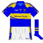 2011: With confusion reigning over whether the Enfer deal had ended and if it would be renewed, Tipp played with unsponsored jerseys in pre-season games in 2011 before the Enfer jerseys returned for the league.