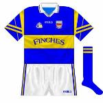 1999: A very subtle change, as the GAA logo, O'Neills and county crest all moved slightly downwards.