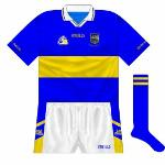2002: Tipp's deal with Finches ended and, while a new sponsor was being sought, a sponsorless jersey was briefly worn.