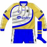 2006: Just as Tipperary fans were getting used to white goalkeeper tops replacing the traditional gold they were faced with this design, which is one of the most distinctive GAA jerseys ever worn.