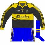 2010: Rare design seen against Waterford (h) and Laois (f)  in 2010 league. A dark grey colour, It followed the design of the other jerseys except it had no sleeve markings. Thanks to David Morrissey for spotting this.
