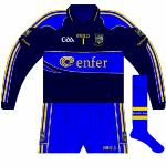 2010: Another meeting with Waterford, in the All-Ireland semi-final, meant another change for Cummins. Differed from 2009 kit in that GAA logo, cuffs and shorts changed.