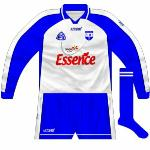 2006: Long-sleeved version. There were a couple of other small modificiations made to the Waterford jersey in addition to the change of sponsor, most notably the blue side panels.