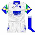 1998: The Gain Feeds logo now took centre-stage, with the county name on the sleeves. That it was written in the same font used by the sponsors was entirely coincidental, wasn't it?