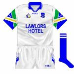1998: Despite Waterford Co-op not sponsoring the footballers, they too began to sport the jerseys with the multi-coloured sleeves, though only for one year.