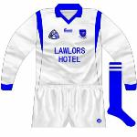 1996: Three-Stripe International used to make adidas products under licence in Cork, but when that agreement ended they made clothes carrying the Emerald Active Wear. Waterford footballers, along with Kerry, were one of the few GAA teams to wear Emerald kits, with a standard design used.