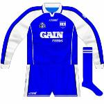 2004: Identical to the new kit introduced by Azzurri in 2003, except for the addition of a new county crest.