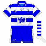 2008: Yop were the new sponsors, first seen on the older jerseys before the launch of the new set.