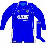 2003-05: This version, also blue but with minimal white trim, was also worn on occasion, however.