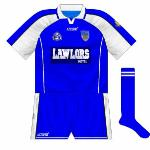 2004: The Lawlors Hotel logo was noticeably darker, meaning it didn't blend well with the blue goalkeeper jersey.