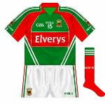 2011: A real oddity - in the All-Ireland quarter-final win over Cork, brothers Séamus and Aidan O'Shea wore jerseys with two white stripes rather than the usual three.