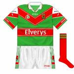 2003-05: Unusual style worn only by the Mayo hurlers.
