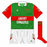 1992: Univet Curzole became the first company to have its name on the Mayo kit.