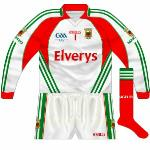 2009: Differed from previous in that the 'GAA: Celebrating 125 Years of the GAA' logo was included while the neck insert was white rather than red.