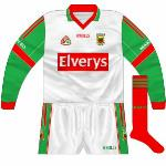 2007: White shirt with same sleeves as on outfield shirt, used against Donegal in 2007 league final.