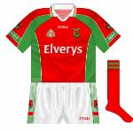 2004: When Mayo met Fermanagh in the All-Ireland semi-final, a reversal of the normal jersey - albeit without the hoop - was used in the drawn match and replay, and again in the final against Kerry.